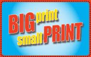 Bigprint Smallprint Logo