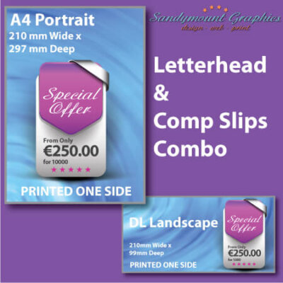 Printed Letterheads and Compliment Slips at Sandymount Graphics