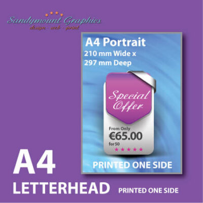 Printed A4 Letterhead at Sandymount Graphics