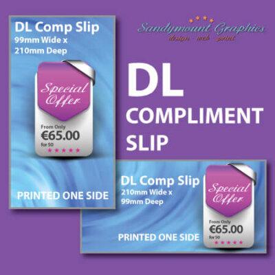 DL Compliment Slips