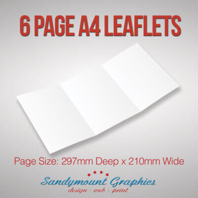 Leaflets 6pp A4 at Sandymount Graphics
