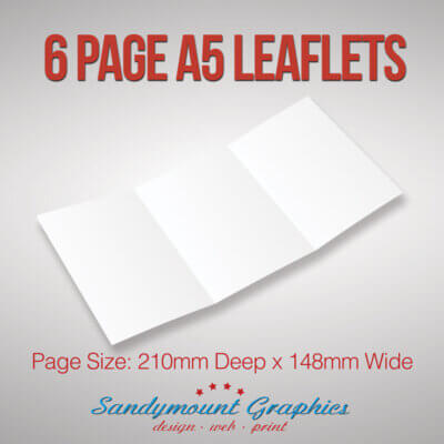 Leaflets 6pp A5 at Sandymount Graphics