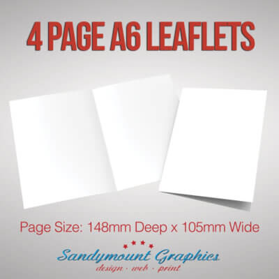 Leaflets 4pp A6 at Sandymount Graphics