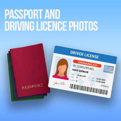 Passport and Driving Licence Photos at Sandymount Graphics