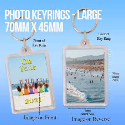 Photo Keyrings - Large - at Sandymount Graphics