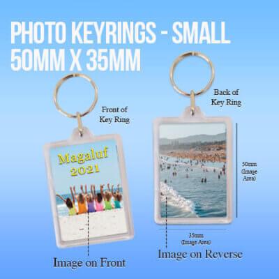 Photo Keyrings - Small - at Sandymount Graphics